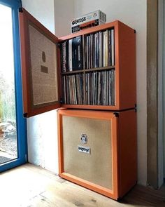 "#vinyloftheday on Instagram: ""Cool way to store your records 😂 ⠀⠀⠀⠀⠀⠀⠀⠀⠀ Calling all record collectors out there! Want to share & showcase your records collection with…"" Bookcase, Corner, Shelves, Random, Home Decor, Shelving, Homemade Home Decor, Bookcases, Interior Design"