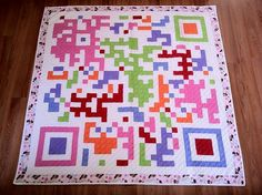 Made to order QR code Wedding quilt (reserved for bill) on Etsy, $200.00