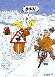 Beware Of The Deer - https://shareitsfunny.com/beware-of-the-deer/ - Funny Cartoons on Share Its Funny #bewareofthedeer