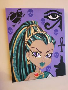 Nefera denile fan art by Sara Seibel Monster High, Princess Zelda, Fan Art, Fictional Characters, Fanart