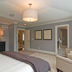 Drum lighting above bed