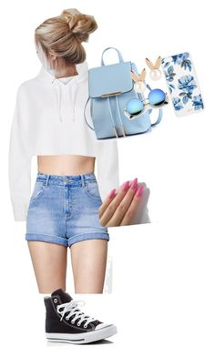 """""""<3"""" by jazmyn-lee ❤ liked on Polyvore featuring Kendall + Kylie, River Island, Converse, Sonix and Aamaya by priyanka"""
