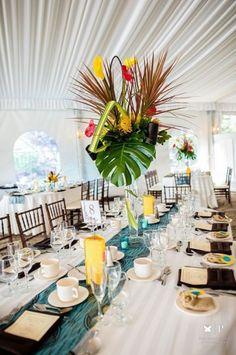 Inspiration mariage tropical - la décoration