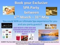 Book now for your chance of winning spa break!