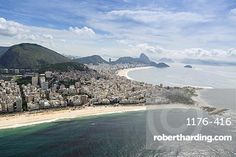 Arpoador and Copacabana beaches and the Arpoador peninsula, Rio de Janeiro, Brazil, South America