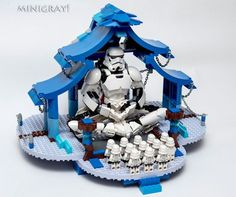 LEGO MOC Stormtroopers Temple What if Stormtrooper is a religion? Ever wonder that? Well it would look like this. It's the Stormtrooper Temple. Lego Moc, Minifigura Lego, Robot Lego, Van Lego, Lego Craft, Lego Bionicle, Lego Technic, Lego Minifigs, Lego Stormtrooper