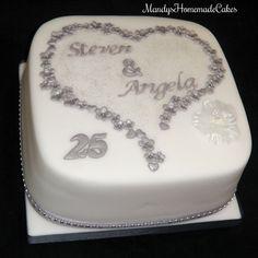 https://flic.kr/p/vPVCVu | Silver Anniversary Celebration Cake