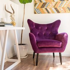 Halifax Fuchisa New Velvet Arm Chair