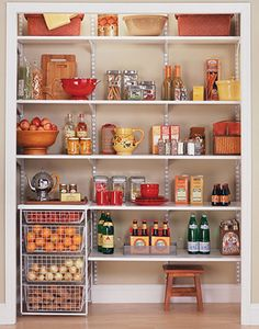 Pantry Bins http://www.barefootandcompany.com/content/products/closet-systems/kitchen-and-pantry/Shelf%2520Track%2520Pantry.jpg