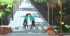 regram @beomjin___kim 그림 #일러스트 #낙서 #캐릭터 #캐릭터디자인 #컨셉 #컨셉아트 #디자인 #스케치 #데일리 #art #illust #illustration #doodle #character #characterdesign #art #design #sketch #daily #couple #love #커플 #자전거 #라이딩 #bicycle #roadbike #city #sports