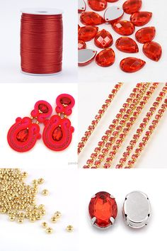 #PandaHall Customer Show---Red #PolyesterCords #SoutacheEarrings with #Rhinestone Chains #earrignscraft  #jewelrymaking PandaHall Beads App, download here>>>goo.gl/RAEuuP Free Coupons: PHENPIN5 (Save $5 for $70+) PHENPIN7(Save $7 for $100+) PandaHall Spring Promotion: UP TO 75% OFF, free Shipping over $349 from Feb.27-Mar.20,2018. Check here>>>goo.gl/YG9LPa