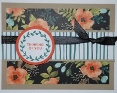 Stampin' Up! - Lots of Love stamp set - Crumb Cake, Tangerine Tango, Whisper White cardstock & Whole Lot of Lovely DSP - Tranquil Tide & Tangerine Tango ink pads - Big Shot & Layering Circles Framelits - Check out my website for other supplies, measurements and other ideas