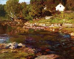 Edward Henry Potthast, Souvenir of Canada Fine Art Reproduction Oil Painting