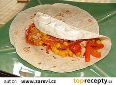 Burritos s kuřecím masem recept - TopRecepty.cz Fajitas, Burritos, Tacos, Pizza, Ethnic Recipes, Food, Breakfast Burritos, Essen, Meals