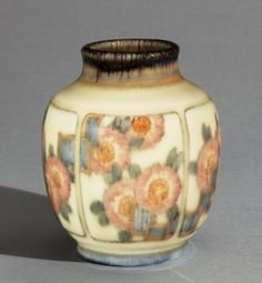 Made by Rookwood Pottery, Cincinnati, Ohio, 1880 - 1960. Decorated by Sara Sax, American, 1870 - 1949, active at Rookwood Pottery 1896 - 193...