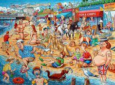 The Great British Seaside British Beaches, British Seaside, British Holidays, Best Of British, British Car, Car Boot Sale, Seaside Holidays, Seaside Resort, Satire