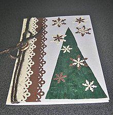 Papiernictvo - vianočný pozdrav - vo farbách prírody - 6060383_