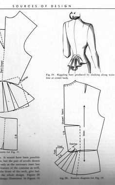 Friday Freebie: Dress Design Draping and Flat Pattern Making – The Perfect Nose Diy Clothing, Sewing Clothes, Clothing Patterns, Dress Patterns, Shirt Patterns, Vogue Patterns, Doll Clothes, Techniques Couture, Sewing Techniques