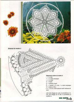 "Photo from album ""Moje robotki on Yandex. Irish Crochet Patterns, Crochet Lace Edging, Crochet Doily Patterns, Crochet Diagram, Thread Crochet, Crochet Doilies, Knit Crochet, Dream Catcher Patterns, Flower Chart"