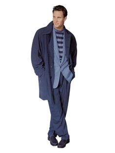 In the 1990s, the bridge to the 21st century brings great change, with the loose, baggy silhouette of the early '90s leading to a slimmer suit profile. Business casual enters the lexicon.