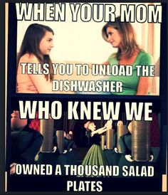 haha, of course, I do the dishes a LOT and we don't use a dishwasher, so I know exactly how many plates we have!  LoL