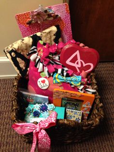 Basket for one of my Littles! #Sorority #crafts #TriDelta