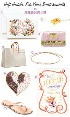 Gift Guide: For Your Bridesmaids {great gift ideas}