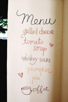 "White chalkboard paint- perfect for all week. Then the kids aren't asking ""Whats for dinner?"" Also, create the menu on Thursday and go shopping on Friday. Have everyone give ideas. Plus, since you have the menu, grocery shopping is a breeze!"