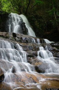 Laurel Falls, Tennessee - Beautiful Falls a short distance from Gatlinburg in the Great Smokey Mountains