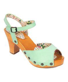 Look at this #zulilyfind! Mint Tina Leather Slingback Sandal #zulilyfinds