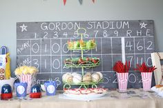 LOVE these ideas for a baseball-themed party!