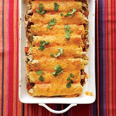 Chicken Verde Enchiladas - Dinners in 25 Minutes or Less - Cooking Light