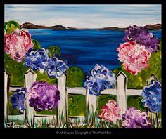 Cape Hydrangeas Painting - Jackie Schon, The Paint Bar