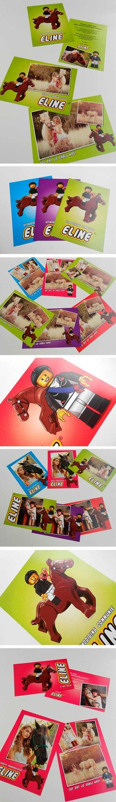 Lego paardjes communiekaartjes