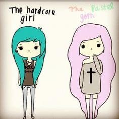 pastel goth... so cute ^_^ When I can finally dye my hair I will definitely be the pastel goth.