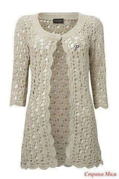 By Mariza Crochet Designer: Casaco Crochet com gráfico .