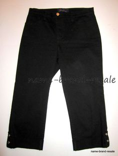 NYDJ NOT YOUR DAUGHTERS JEANS Womens 4 BLACK Jean Capris Cropped #NotYourDaughtersJeans #CapriCropped