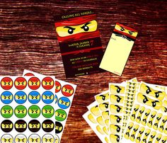 Lego Ninjago Printable Party Package by OrchidAvePrintables, $7.99