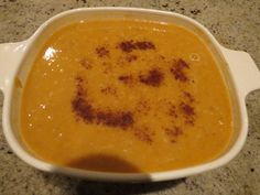 Sweet potato soup, a recipe from my upcoming cookbook, Gaia's Table