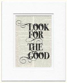 look for the good printed on page from vintage by FauxKiss