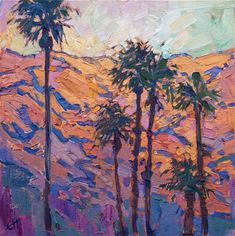 Landscape painting of Palm Springs by impressionist artist Erin Hanson