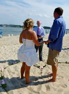 My daughters wedding.  Standing in center of a heart I made with fresh roses.