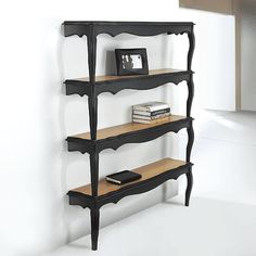 Marvelous DIY Bookshelves Make a Great Home Decor : Bookshelf Of Vintage Tables - 2 coffee tables = bookcase. lovely