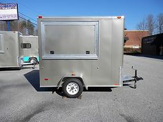 """New 5 x 8' """"Delivery"""" Food Truck Trailer Delivers Hot or Cold w Optional Cambro 