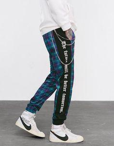 Skinny Pants Pants Logical Men Slim Fit Urban Straight Leg Trousers Casual Pencil Jogger Long Pants Size Striped High Street Hot Pants For Man