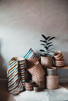 If you've been looking for an eye-catching array of woven baskets, then look no further! As you can see, these classic, textured baskets can serve many purposes. A container for indoor plants? Something to house all your winter blankets? The options are endless. ⠀⠀ Our baskets are handwoven by the amazing communities in Malawi, as well as the woman weavers in Kenya. Basket Weaving, Hand Weaving, Woven Baskets, Winter Blankets, Indoor Plants, Throw Pillows, Texture, Classic, Container Houses