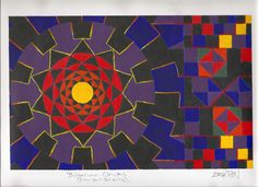Song interpretation using circles squares and triangles. #acrylicpainting #acrylics #fineart