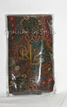 Ralph Lauren Brown D'Art Paisley NEW 1 Standard Pillow Sham 100% Cotton Bedroom #RalphLauren