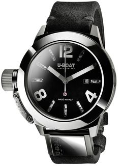 U-Boat Watch Classico 48 Ceramic Shiny #bezel-fixed #bracelet-strap-leather #brand-u-boat #case-material-ceramic #case-width-48mm #date-yes #delivery-timescale-call-us #dial-colour-black #gender-mens #luxury #movement-automatic #official-stockist-for-u-bo