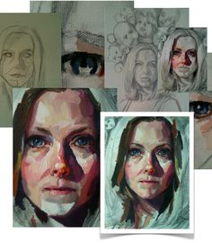 KAREN APPLETON: a new painting in progress and a new look for my blog